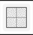 terrazzo flooring and material icon design vector image