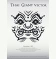 thai giant monster festival poster in modern vector image