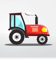 tractor icon isolated flat design agriculture vector image vector image
