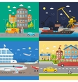 Transportation of passengers and goods delivery vector image