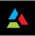 Triangle logo colorful
