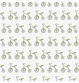Tricycle cute pattern vector image
