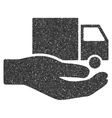 Van Delivery Service Hand Icon Rubber Stamp vector image vector image