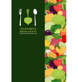 Vegetarian menu cover for restaurant or Cafe Bunch vector image vector image