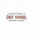 vintage cooking classes logo retro styled vector image vector image