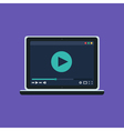 Web Template of Notebook Video Player vector image vector image