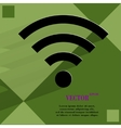 WI-FI Flat modern web button with long shadow and vector image vector image