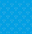 winner cup pattern seamless blue vector image vector image