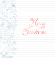 winter doodle with element christmas card vector image vector image