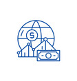 world markets line icon concept world markets vector image vector image