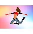 Young woman dancer vector image vector image