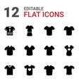 12 tshirt icons vector image vector image
