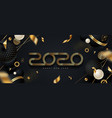2020 new year greeting card design vector image vector image
