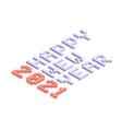 2021 new year isometric art minimal holiday vector image vector image