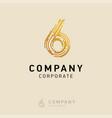 6 company logo design vector image vector image