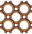 A pattern of black and orange stylized rings vector image vector image