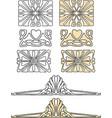 a set of vintage decorative elements vector image vector image