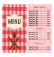 abstract menu presentation vector image vector image