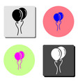 air balloon flat icon vector image vector image