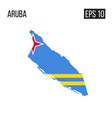 aruba map border with flag eps10 vector image vector image