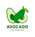 avocado logo design vector image