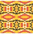 aztec tribal seamless black yellow red pattern
