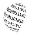 binary code globe symbol icon design vector image vector image