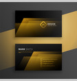 black and golden business card template design vector image vector image