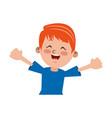 boy happy student young kid vector image vector image