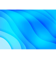 Bright blue waves abstract background vector image vector image