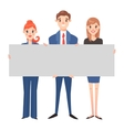Business people hold banner set vector image vector image
