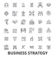 business strategy business plan business vector image vector image