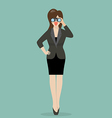 Business woman with binoculars vector image vector image