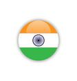 button india flag template design vector image
