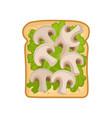 cartoon icon of delicious and healthy sandwich vector image vector image