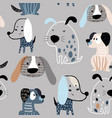 childish seamless pattern with funny creative vector image vector image