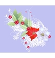 Christmas Branch with Snowflakes and Berry vector image