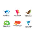 collection of bird logos or icons design vector image