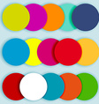Colorful circles layered-2 vector image vector image