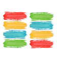 colorful watercolor brush strokes paint on the vector image vector image