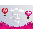 Concept of Valentine day hot air balloon vector image vector image