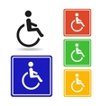 disabled icon pictograph for logo vector image