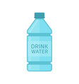 drink water bottle vector image vector image