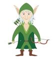 Elf archer vector image