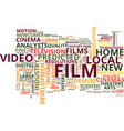 film is still a relative newcomer in the pantheon vector image vector image