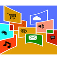 Flat design social media vector image vector image