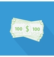 flat stack of money icon vector image