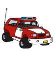 Funny fire patrol car vector image vector image