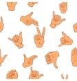 Gesture pattern cartoon style vector image vector image