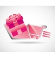 gifts online design vector image vector image